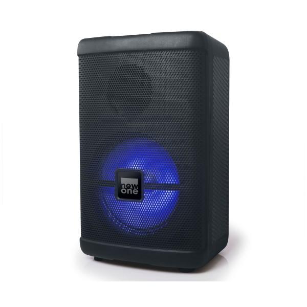 New-one pbx50 party box/altavoz bluetooth/radio fm/puerto usb