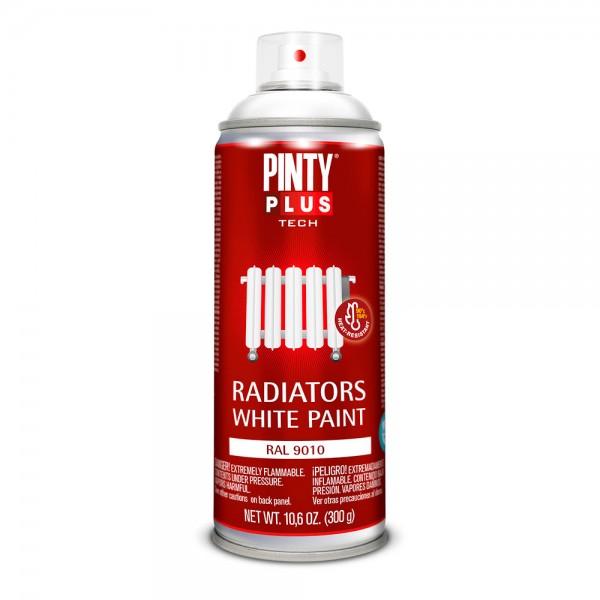 Pintura en spray pintyplus tech blanco radiador ral 9010 spray 520 cc