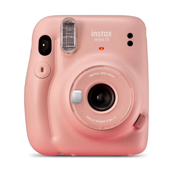 Fujifilm instax mini 11 rosa cámara instantánea con flash de alto rendimiento